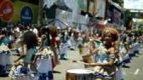 Banda Didá Femenina foi uma das primeira a tocar no Circuito Campo Grande nesta segunda-feira, na capital baiana