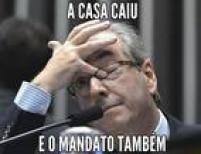 O meme faz referência também à saída do deputado federal carioca da Presidência da Câmara.