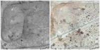 A Necrópole de Palmira teve uma estrada construída atravessando a região e afetou várias tumbas. Solos arqueológicos ao lado da estrada foram usados para criar barreiras de terra em ambos os lados da estrada nova