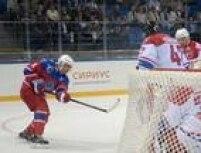 Putin participa de partida de hóquei em Sochi