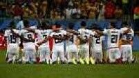 Mesmo desapontados, os jogadores da Costa Rica reconheceram a excelente atuação na Copa do Mundo.
