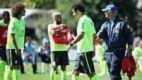 No treino desta quarta-feira, Felipão inovou e fez algumas mudanças importantes.