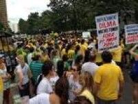 Em Belo Horizonte, ato se concentrounapraça da Liberdade, no cento da capital. Foto: Leonardo Augusto