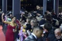 A jogadora norte-americana Carli Lloyd atendeu ao público presente na cerimônia em Zurique.