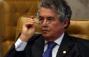 Ministro Marco Aurélio durante sessão do STF