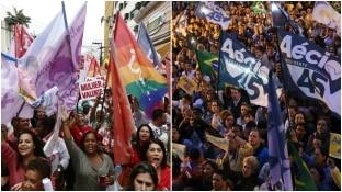 EFE e Reuters - Ato a favor de Dilma em Duque de Caxias, no Rio e por Aécio em São Paulo