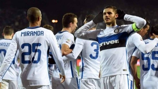 Atacante argentino Icardi garante a vitória da Inter sobre o Empoli, fora, por 1 a 0
