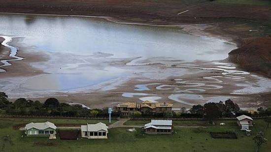 Vista da represa de Jaguari, em Bragança Paulista