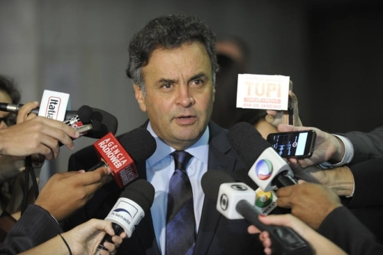 O presidente nacional do PSDB, senador Aécio Neves