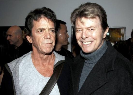 Lou Reed e David Bowie em Nova York, em janeiro de 2006