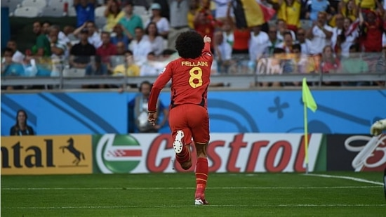 Fellaini começou o jogo no banco e fez o gol de empate da Bélgica frente a Argélia