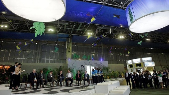 MARCOS48 - RJ - 02/06/2014 - COPA/MIDIA/FIFA - ESPORTES OE - Cerimônia de abertura oficial do Centro Internacional de Transmissão (IBC) para a Copa do Mundo da Fifa, no Rio Centro, em Jacarepaguá, na zona oeste do Rio de Janeiro. O IBC atuará como o principal ponto focal e o centro da operação de transmissão no Brasil durante a Copa. Uma rede exclusiva ligará as 12 sedes no Brasil e centenas de emissoras em todo o mundo. Foto: MARCOS DE PAULA/ESTADÃO