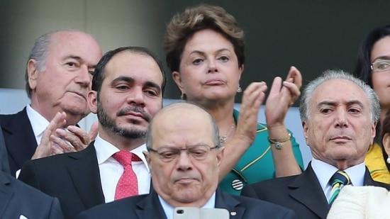 Dilma durante a abertura da Copa do Mundo, em São Paulo