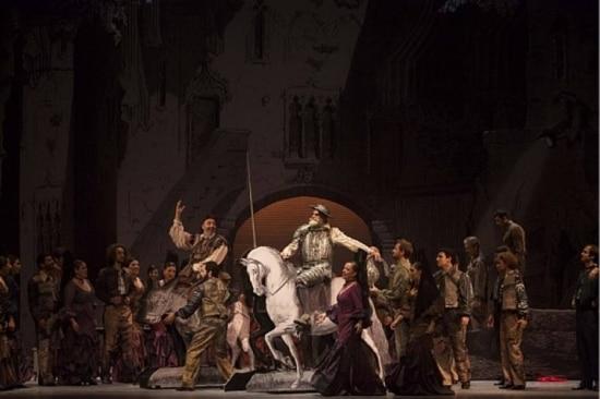 Cena da ópera 'Dom Quixote, de Massenet, dirigida por Jorge Takla