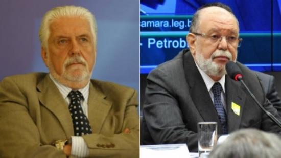 O ministro da Casa Civil,  Jaques Wagner e o executivo da OAS, Léo Pinheiro