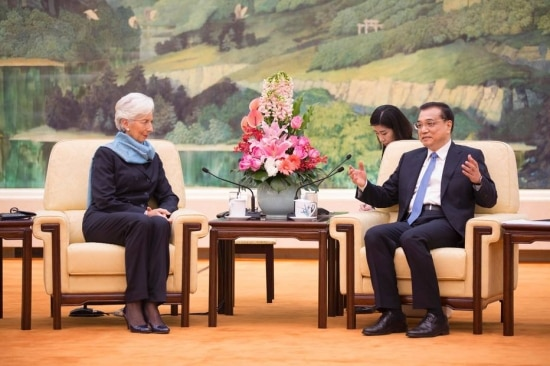 Lagarde e Li Keqiang discutiram a política cambial do país asiático