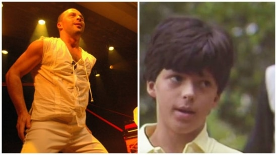 Daniel Lobo, em 2009, e em 1986, como o personagem Pedrinho