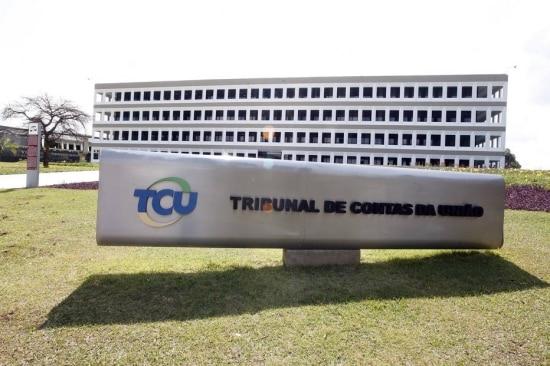A fachada do Tribunal de Contas da União, em Brasília