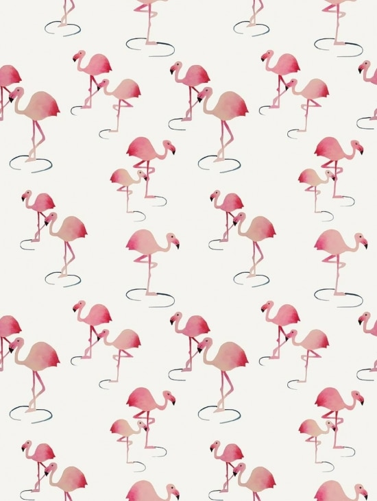 Papel de parede com estampas criadas pelo Studio Loom para a Branco