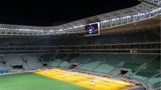 Estádio do Palmeiras está na reta final dos trabalhos