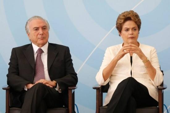 O vice-presidente Michel Temer e apresidente Dilma Rousseff