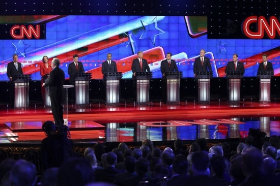 Último debate republicano de 2015, promovido pela emissora CNN, teve a participação de 9 pré-candidatos