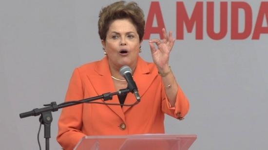 Dilma discursa durante evento em Brasília