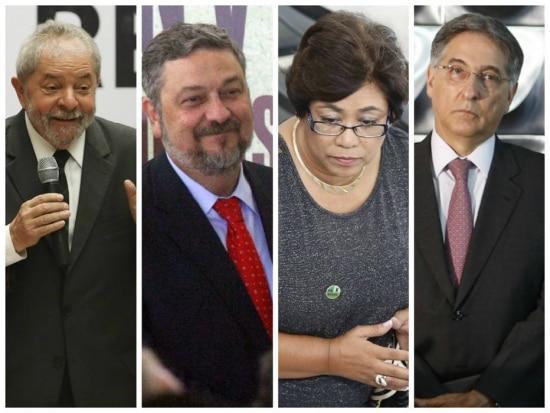 Lula, Palocci, Erenice e Pimentel