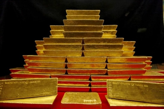 Turbulência.Preço da onça de ouro chegou perto de US$1,3 mil.