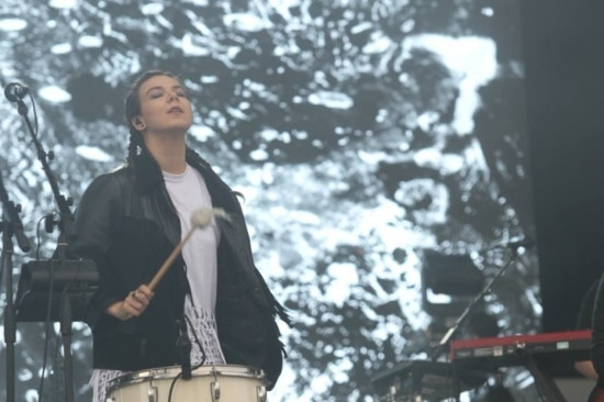 A vocalista Nanna Bryndis, do Of Monsters and Men