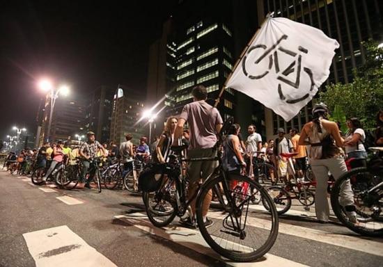 Praça do Ciclista na Avenida Paulista.O crescimento das mortes acontece paralelamente ao avanço do projeto da gestão Haddad de instalar 400 quilômetros de ciclovias