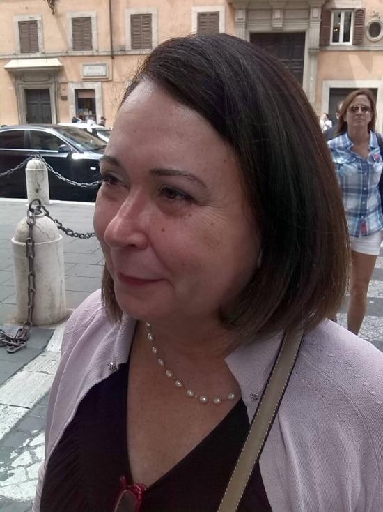 Andrea Haas, mulher de Henrique Pizzolato, condenado no processo do mensalão - 1434496055224
