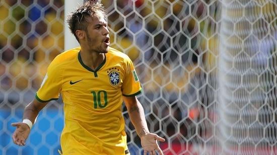 Contra a seleção de Camarões, Neymar marcou o centésimo gol da Copa do Mundo 2014