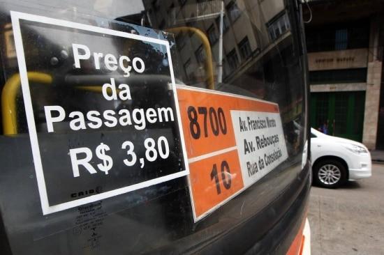 Alta do preço da passagem do ônibus influenciou o IPCA de janeiro