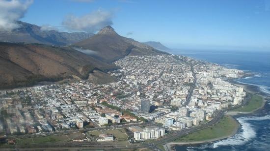 Vista da Cidade do Cabo, na África do Sul