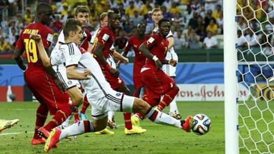 Klose igualou a marca de Ronaldo, com 15 gols em Copas