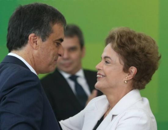 José Eduardo Cardozo e Dilma