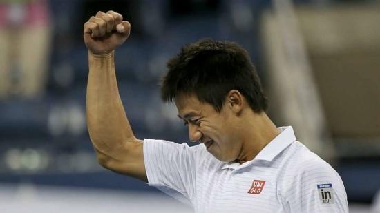 Nishikori ganhou a batalha com Wawrinka em cinco sets