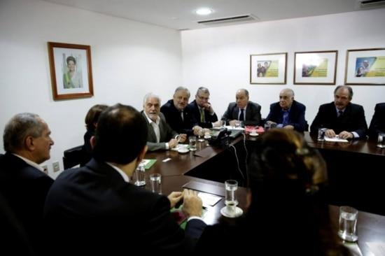 Ministros de Dilma em reunião na quarta-feira, 11