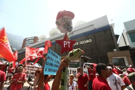 Ato em apoio a Lula reuniudezenas no Rio