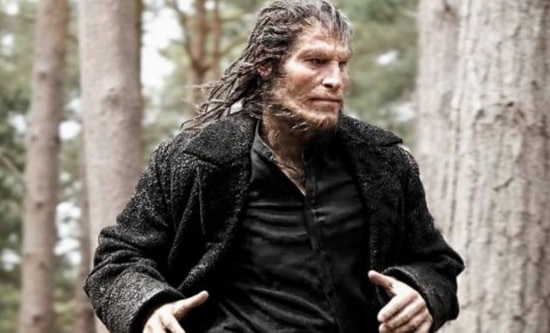 David Legeno no papel de Fenrir Greyback