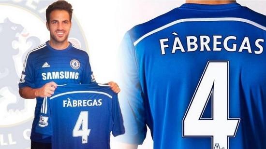 Nas redes sociais, Cesc Fàbregas vestiu a camisa do Chelsea