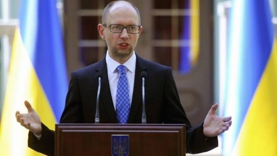 O primeiro-ministro da Ucrânia, Arseny Yatseniuk