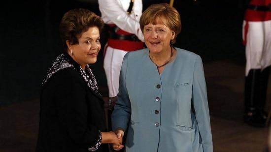 Presidente brasileira recebe Angela Merkel