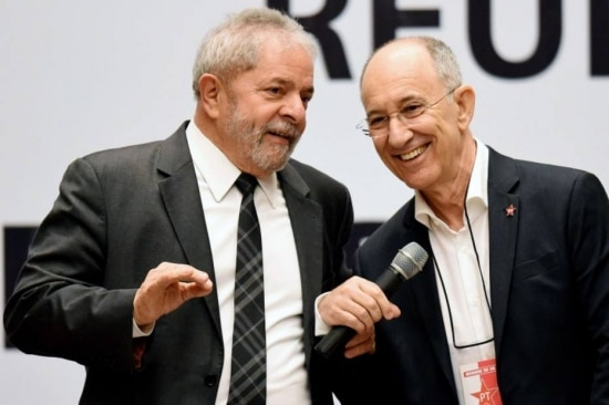 Rui Falcão com o ex-presidente Lula