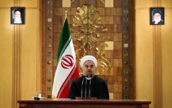 Presidente do Irã, Hassan Rohani, discursa no Parlamento após sanções econômicas e financeiras contra o país serem suspensas