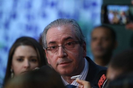 O presidente da Camara, Deputado Eduardo Cunha