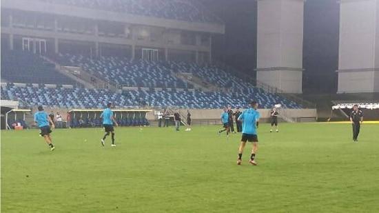 Bragantino trabalhou na noite desta terça-feira na Arena Pantanal para duelo contra o Corinthians
