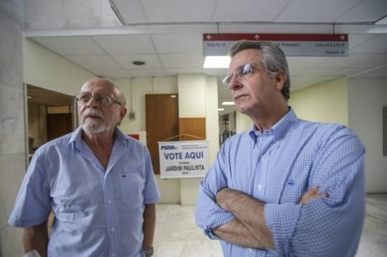 O ex-governador de São Paulo Alberto Goldman (esq) e o vereador Andrea Matarazzo