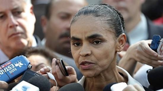 Marina Silva deu entrevista à imprensa após participar da missa de sétimo dia em memória de Eduardo Campos